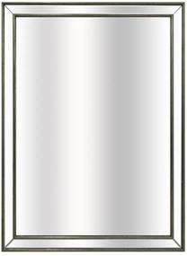 Espelho Decorativo Retangular com Moldura Prata em Resina - 56x75cm