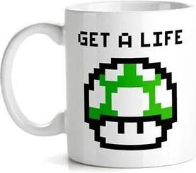Caneca Cogumelo Verde Pixel Super Mario Bros