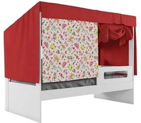 Cama Infantil Tenda Circus Diversão Branco/Vermelho - Pura Magia