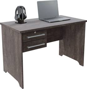 Mesa para secretária com gaveta c/ chave Alemanha RV Móveis Cinza