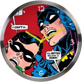 Relógio de Parede DC Comics Batman And Robin Looking Up em Metal Urban