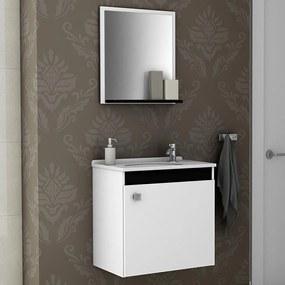 Armário de Banheiro Siena Branco/Preto - Bechara Móveis