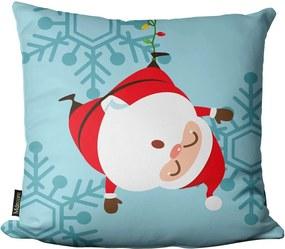 Capa para Almofada Mdecore Natal Papai Noel Colorido -45x45cm