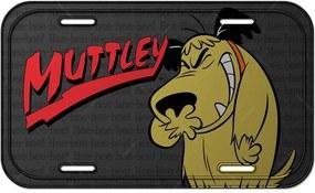 Placa de Parede Hanna Barbera Wacky Race Muttley Cinza - Urban