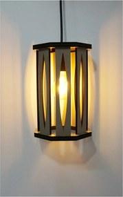 Luminária Pendente Elipse Crie Casa Bege Pequena