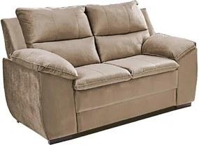 Sofá Com Fibra No Encosto Apogeu 2 Lugares Tecido Suede Bege - Umaflex