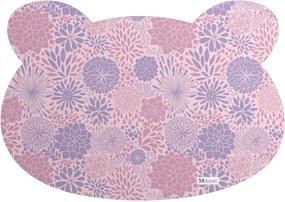 Tapete PET Mdecore Urso Floral Rosa54x39cm