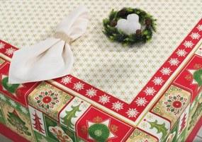 Toalha de Mesa de Natal Karsten Tempo de Celebrar - Tamanho: Quadrada - 78 X 78 cm - Karsten