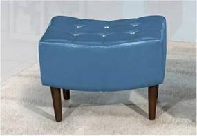 Puff Decorativo Sandy 60cm Azul Metalizado - Perfan