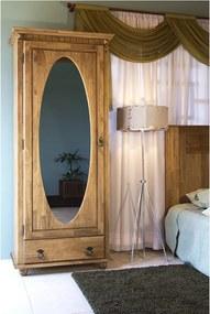 Roupeiro Viola Oval com Gaveta e Espelho