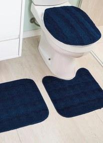 Jogo de Banheiro Azul Antiderrapante 3 Peças