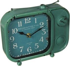 Relógio de Mesa TV Green em Metal - 20x14 cm