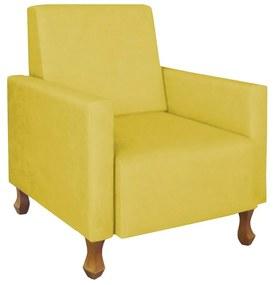 Poltrona Sofia Suede Amarelo Amamentação, Sala, quarto