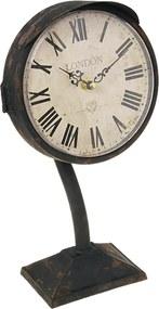 Relógio de Mesa Antigo London em Metal - 32x16 cm