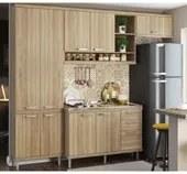 Cozinha Modulada Sicilia Argila 04 Modulos Multimoveis