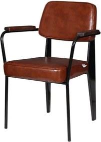 Cadeira Jean Provve Estofada c/ Braco Marrom 81 cm (ALT) - 47262 Sun House