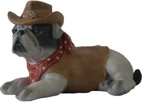 Cachorro Decorativo em Porcelana Colorida - 20x20x8cm
