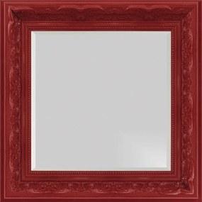 Espelho Decorativo com Bisotê Vermelho Retrô