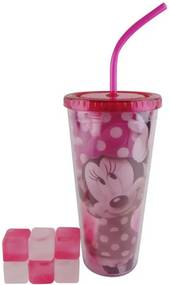 Copo Canudo Gelo Minnie 600ml
