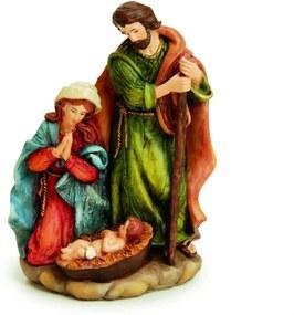 Sagrada Família De Resina Color 19 X 13 Cm Decoração Natal