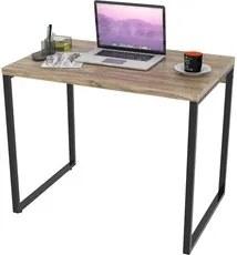 Mesa de Escritório Office 90cm Estilo Industrial Prisma C08 Carvalho -
