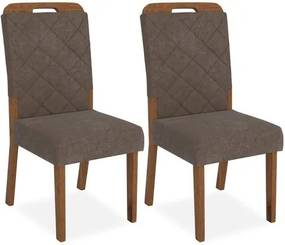 Kit 2 Cadeiras de Jantar, Rústico Terrara, Pena Marrom, Paris