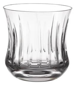 Copo de Cristal Lapidado Artesanal p/ Whisky - Transparente - 66  Transparente - 66
