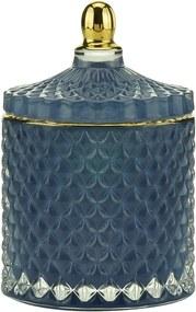 Potiche Decorativo Vidro Azul 9x13cm 60682 Royal
