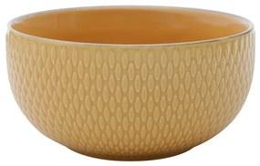 Jogo Com 2 Bowls De Porcelana Drops Amarelo 700ml 27615 Bon Gourmet