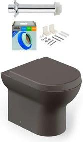 Kit Bacia Sanitária Convencional com Assento Nexo Café + Conjunto de Fixação, Tubo de Ligação e Anel de Vedação - Roca - Roca