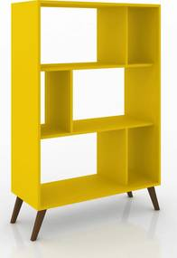 Rack Retrô Móvel Bento Amarelo
