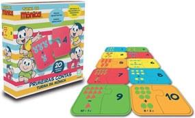 Jogo Primeiras Contas em Madeira Nig Brinquedos - Turma da Mônica - 20 peças - 0764 - Azul