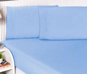 Roupa de Cama Casal Queen Suprema Percal 180 Fios 03 Peças - Azul
