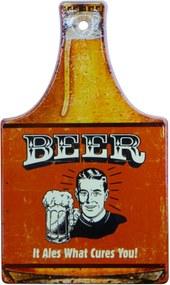 Placa Kasa Ideia de Cerâmica Beer Vermelho