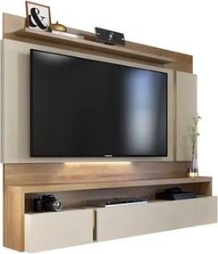 Painel Bancada Suspensa para TV até 60 Pol. Vizio Buriti/Off White - Caemmun