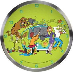 Relógio de Parede HB Scooby All Cleaning The Mistery Machine Verde