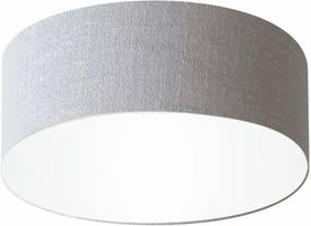 Plafon Cilíndrico Md-3047 Cúpula em Tecido 45x15cm Rustico Cinza - Bivolt