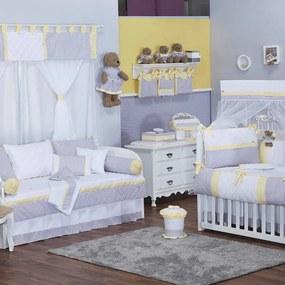 Quarto de Bebê Chevron Noblesse Amarelo 40 Peças
