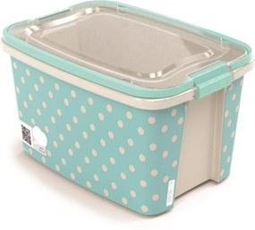 Caixa Gran Box com Alça e Trava 6,2L - Poa Turquesa