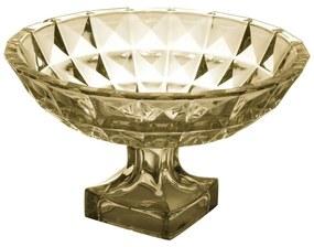 Fruteira Cristal Com Pé Diamant Âmbar 32x19cm 26055 Wolff