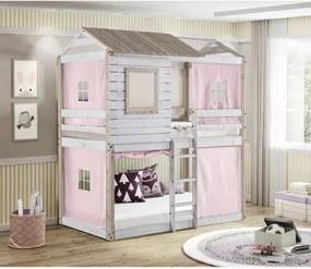 Beliche Infantil Rústico Club House Tenda Rosa - Casatema