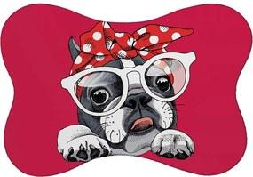 Tapete PET Mdecore Bulldog Vermelho46x33cm