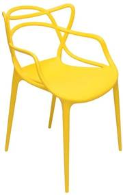 Cadeira Orlando de Polipropileno Amarela