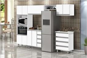 Kit Cozinha Valência Branco - Passe Bem Móveis