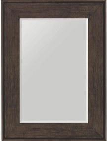 Espelho de Parede Moderno Decorativo com Moldura Larga Marrom e Bisotê 60x80cm