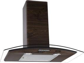 Coifa de Parede Vidro Curvo Slim  70 cm Wood 127v  - Fogatti