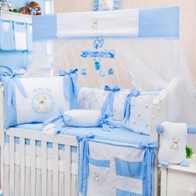 Kit Berço Padroeira Baby Teddy Lovely Azul