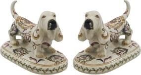 Par De Cachorro Em Porcelana