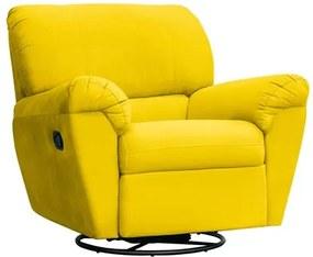 Poltrona do Papai Reclinável Retrátil Taty Suede Amarelo - Mpozenato