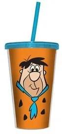 Copo com Canudo Fred Flintstones
